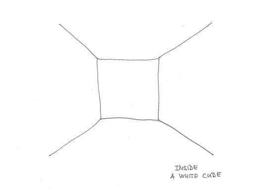 borders white cube